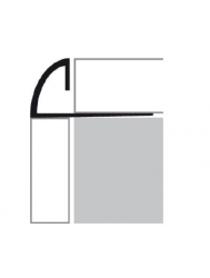 Tegelprofiel RVS 1/4 Rond 12,5 mm x 270 cm