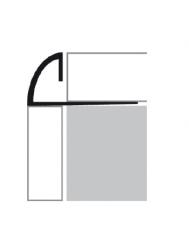 Tegelprofiel RVS 1/4 Rond 10 mm x 270 cm