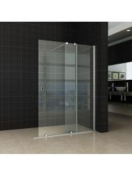 Verleng-Inloopdouche Wiesbaden 100x200 cm op Rail 10mm NANO Glas