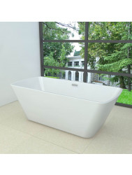Ligbad Larx Wiesbaden Vrijstaand Vierkant Acryl Inclusief Waste 170x78 cm Wit