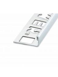 Ox Tegelprofiel Lynox Rechthoekig Geborsteld Glanzend Zilver 12.5 mm