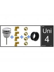 Aansluitset Luxe Uni-4 Denver Fontein Clickwaste