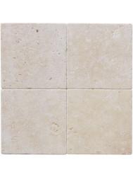 Natuursteen tegels Classic travertin / Apulia ivory (beige) anticato 20x20x1 (Doosinhoud 1 m²)