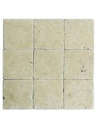 Wandtegel Natuursteen Classic travertin / Apulia ivory(beige) anticato 10x10x1 (Doosinhoud 1 m²)