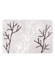 Badmat Differnz Leaf Antislip 60x90 cm Microfiber Grijs