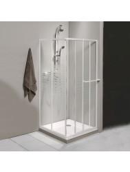 Douchecabine Allibert Val Hoekinstap Schuifdeur 75x90x185cm Wit Glastekening