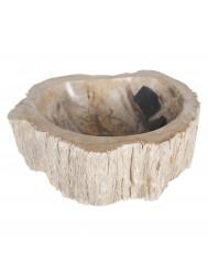 Waskom Differnz Malang 45x45cm Versteend hout Créme