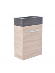 Fonteinkast Sanilux Trendline Stone Light Wood Rechts Draaiend