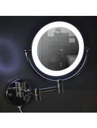 Cosmeticaspiegel Best Desing Steiner Chroom met LED (20 cm) | Tegeldepot.nl