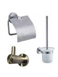Complete toiletset Best Design Ore Metaal/Glas