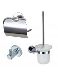 Complete toiletset Best Design Rome Metaal/Glas