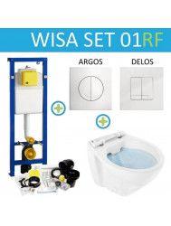 Wisa XS Toiletset set01 Design Randloos met Argos of Delos drukplaat