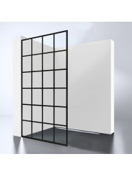 Inloopdouche Best Design Black Screen cm 10mm Nano (ALLE MATEN)