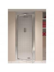 AQX AQUA4 Pivot Door Silver Clear 760* 1850mm 4mm