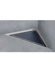 Easydrain Aqua Jewels Delta Douchegoot 3-hoek 20x20cm.zij-uitl.30-35-50 Tegel / Rvs