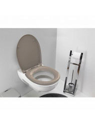 Wc-Zitting Allibert Fally Taupe Soft-Close | Tegeldepot.nl