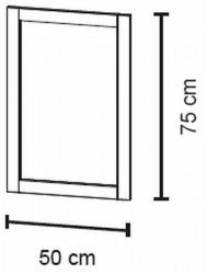 Bruynzeel  Spiegel 50 X 75 Cm. Bxh Puur Wit