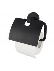 Toiletrolhouder Haceka Kosmos met Klep Mat Zwart