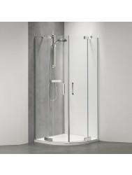 Douchecabine Get Wet by Sealskin Custom Kwartrond 100x100 cm Zilver hoogglans Helder glas