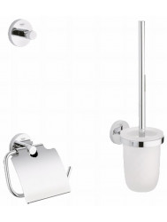 Grohe Essentials Accessoireset 3-in-1 (haak-borstelh.-closetrolh.) Chroom
