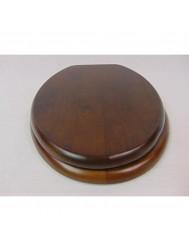 Plieger Classic closetzitting massief hout m. metalen bevestigingsset noten 4340053