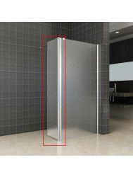 Zijwand Wiesbaden voor Inloopdouche met Rechts Scharnierend Profiel 35x200 cm 10 mm NANO Mat Glas