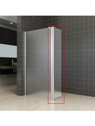 Zijwand Wiesbaden voor Inloopdouche met Links Scharnierend Profiel 35x200 cm 10 mm NANO Mat Glas