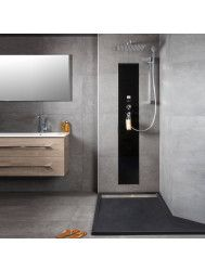 Waterbesparende Regendouche XenZ Upfall Excellent Tray 90x160x13.5 cm Thermostatisch Vierkant 30x30 cm Wit