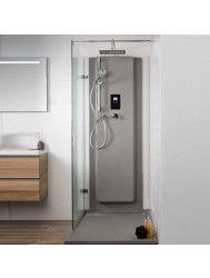 Waterbesparende Regendouche XenZ Upfall Premium 90x160x13.5 cm Thermostatisch Vierkant 30x30 cm Wit