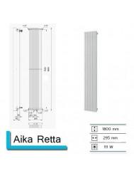 Designradiator Boss & Wessing Aika Retta 1800 x 295 mm | Tegeldepot.nl