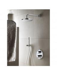 Complete thermostatische douche Inbouwset Hotbath Buddy 2 weg stop omstel RVS Look | Tegeldepot.nl