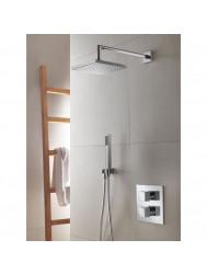 Douchekraanset Hotbath IBS 4 Bloke Inbouw Thermostaat 2-weg Chroom
