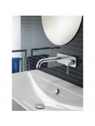 Wastafelmengkraan Hotbath Buddy 25 cm onderdeel gebogen RVS Look | Tegeldepot.nl