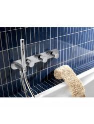Thermostaat Badkraan Inbouw 2 stop Hotbath Buddy zonder uitloop RVS | Tegeldepot.nl