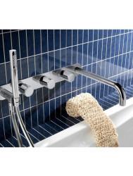 Thermostaat Badkraan Inbouw 2 stop Hotbath Buddy met uitloop RVS | Tegeldepot.nl