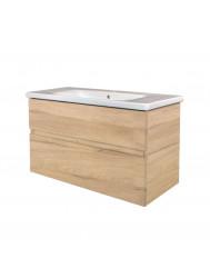 Badkamermeubel Best Design Quick-Greeploos 80x56x44cm Onderkast + Wastafel Grenen