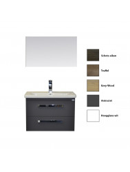 Badkamermeubelset Sanicare Q10/Q11 2 Laden 65cm (alle kleuren, spiegel optioneel)