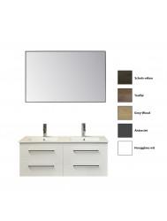 Badkamermeubelset Sanicare Q14 4 Laden (alle kleuren, spiegel optioneel)