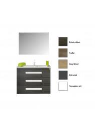 Badkamermeubelset Sanicare Q3 3 Soft-Close Laden Alu Greep 70 cm (alle kleuren, spiegel optioneel)