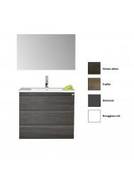 Badkamermeubelset Sanicare Q7 Drie Soft-Close Laden Greeploos 85 cm (alle kleuren, spiegel optioneel)