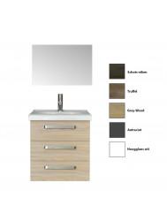 Badkamermeubelset Sanicare Q9 3 Laden 65 cm (alle kleuren, spiegel optioneel)