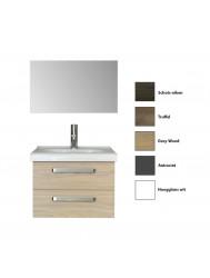 Badkamermeubelset Sanicare Q9/Q10 2 Laden 65 cm (alle kleuren, spiegel optioneel)