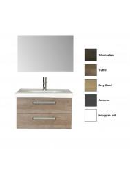 Badkamermeubelset Sanicare Q9/Q10 2 Laden 80 cm (alle kleuren, spiegel optioneel)