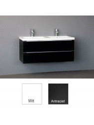 Badkamermeubelset Sanilux Senza Keramiek 120x47x50 cm Wit (in twee kleuren leverbaar)