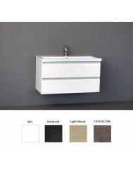 Badkamermeubelset Sanilux Trend Keramiek 100x47x50 cm (in vier kleuren leverbaar)
