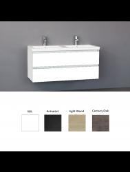Badkamermeubelset Sanilux Trend Keramiek 120x47x50 cm (in vier kleuren leverbaar)
