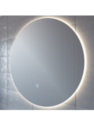 Badkamerspiegel Boss & Wessing Rond 120 cm LED Verlichting Warm White