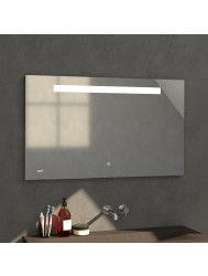 Badkamerspiegel met LED Verlichting Sanitop Clock 118x70 cm met Digitale Klok en Sensor