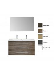 Badkamermeubelset Sanicare Q15 3 Laden (alle kleuren, spiegel optioneel)