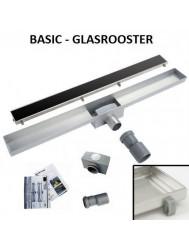 RVS Douchegoot Basic met uitneembaar sifon GLAS ROOSTER